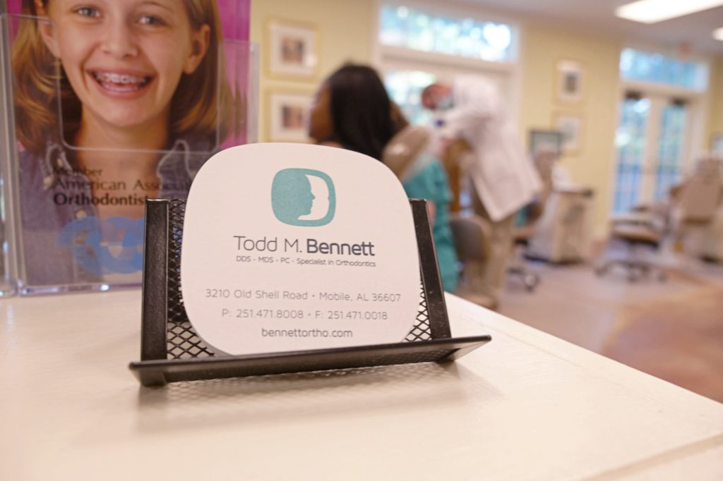 Dr. Todd Bennett business card
